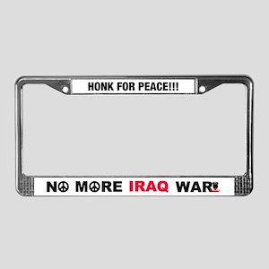 No More Iraq War! License Plate Frame