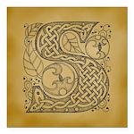 Celtic Letter S Square Car Magnet 3