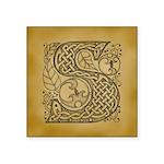 Celtic Letter S Square Sticker 3