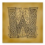 Celtic Letter W Square Car Magnet 3
