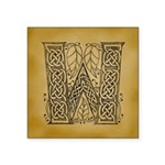Celtic Letter W Square Sticker 3