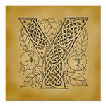 Celtic Letter Y Square Car Magnet 3