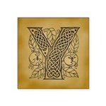 Celtic Letter Y Square Sticker 3