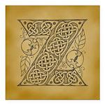 Celtic Letter Z Square Car Magnet 3