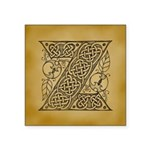 Celtic Letter Z Square Sticker 3