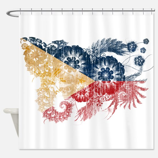 Philippines Flag Shower Curtain