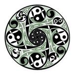 Celtic Spiral Stepping Stone Round Car Magnet