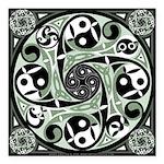 Celtic Spiral Stepping Stone Square Car Magnet 3