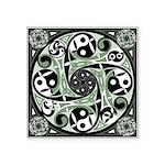 Celtic Spiral Stepping Stone Square Sticker 3