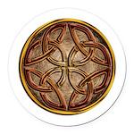 Celtic Knotwork Enamel Round Car Magnet
