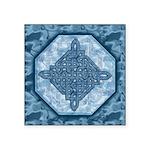 Celtic Diamond Aqua Square Sticker 3