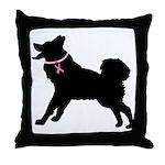 Saint Bernard Breast Cancer Support Throw Pillow