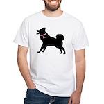 Saint Bernard Breast Cancer Support White T-Shirt