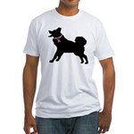 Alaskan Malamute Breast Cancer Support Fitted T-Sh