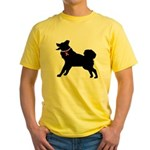 Alaskan Malamute Breast Cancer Support Yellow T-Sh