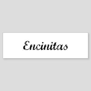 Encinitas - Vintage Bumper Sticker