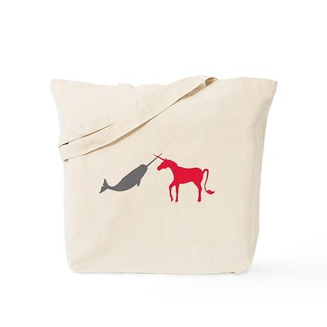 Narwhal Versus Unicorn Tote Bag