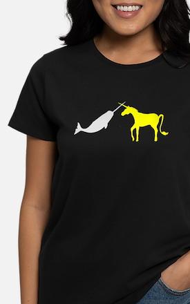Narwhal Versus Unicorn Women's Dark T-Shirt