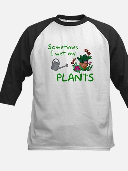 I Wet My Plants Kids Baseball Jersey