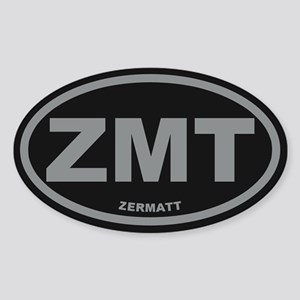 Zermatt Sticker (Oval)
