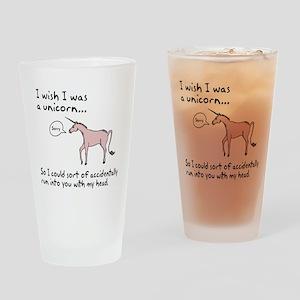 Unicorn Accident Drinking Glass