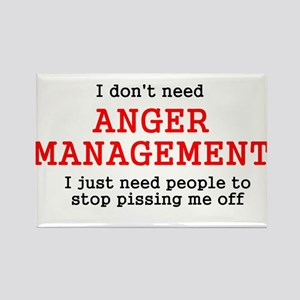 Anger Management Rectangle Magnet