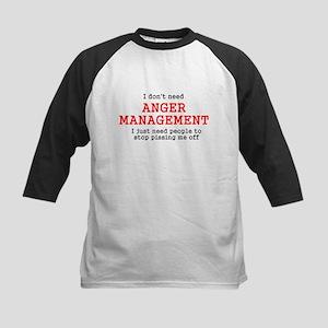 Anger Management Kids Baseball Jersey