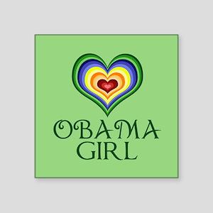 "Obama Girl Square Sticker 3"" x 3"""