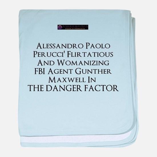 2013 novel The Danger Factor baby blanket