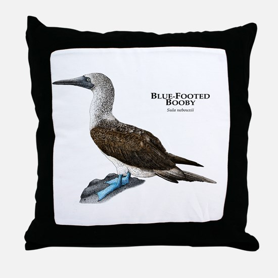 Blue-Footed Booby Throw Pillow