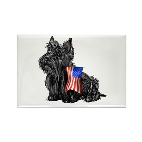 4th of July Scottie Rectangle Magnet