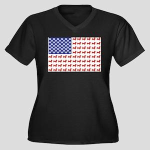 USA Patriotic Dachshund Plus Size T-Shirt