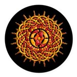Celtic Sun Round Car Magnet