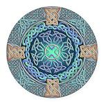 Celtic Eye of the World Round Car Magnet