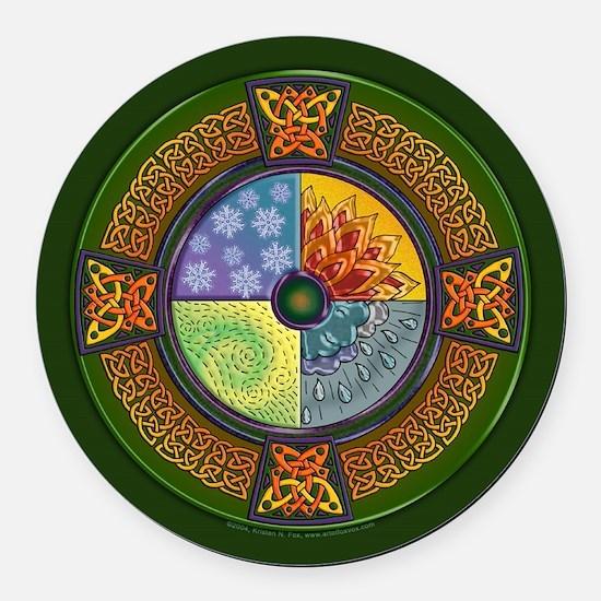 Celtic Elements Round Car Magnet