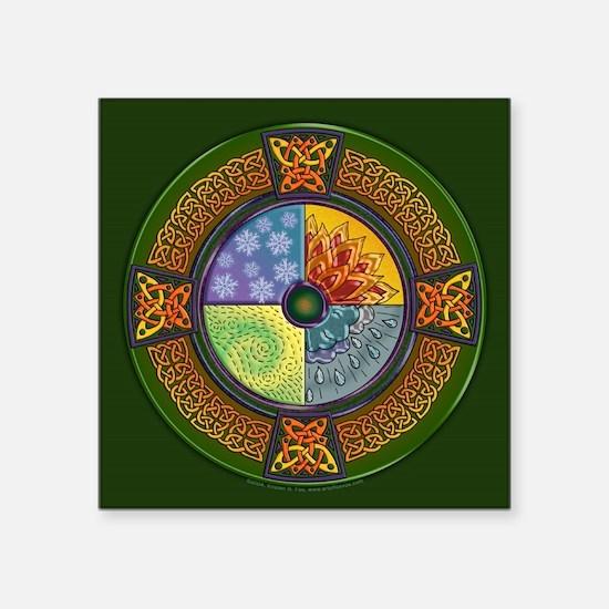 "Celtic Elements Square Sticker 3"" x 3"""