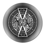 Celtic Dragons Round Car Magnet