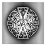Celtic Dragons Square Car Magnet 3