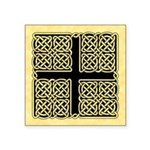 Celtic Square Cross Square Sticker 3