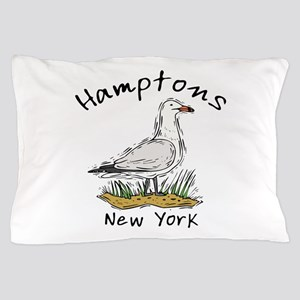 Hamptons NY Seagull Pillow Case