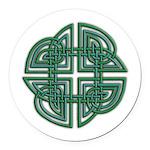 Celtic Four Leaf Clover Round Car Magnet