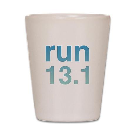 run13blue Shot Glass
