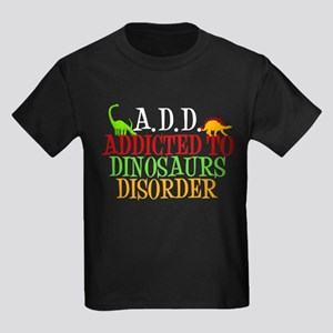Addicted to Dinosaurs Kids Dark T-Shirt