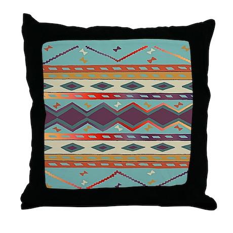 Southwest Indian Blanket Design Throw Pillow
