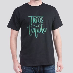 Tacos and Tequila Print Dark T-Shirt
