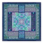 Celtic Atlantis Opal Square Car Magnet 3