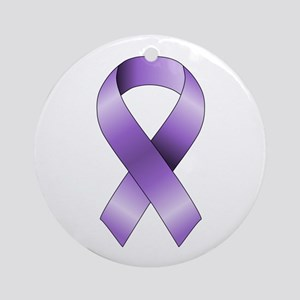 Purple Ribbon Ornament (Round)