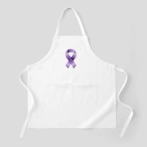 Purple Ribbon Apron