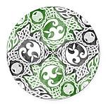 Celtic Puzzle Square Round Car Magnet