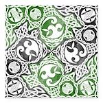 Celtic Puzzle Square Square Car Magnet 3